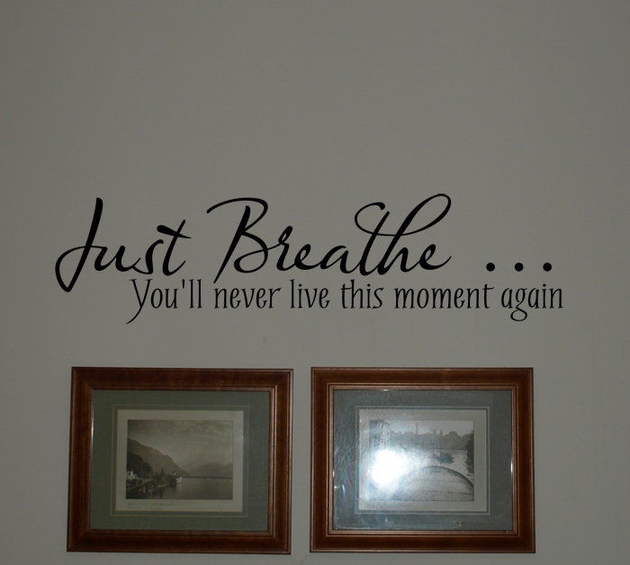 Just Breathe Wall Decal