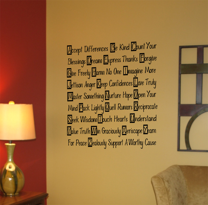 A to Z  Wall Decals