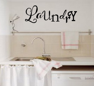 Mixed Font Laundry Wall Decal