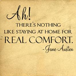 Real Comfort Jane Austen  Wall Decals