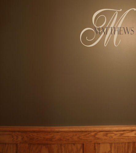 Elegant Monogram Wall Decal