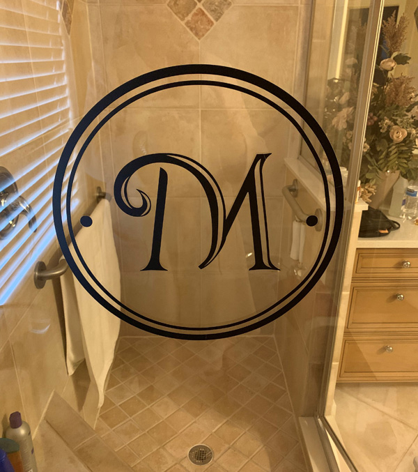Circle Monogram Decal Fancy