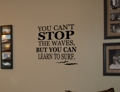 Learn to Surf Wall Decal