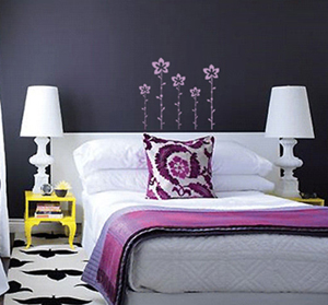 Funky Stem Flowers Wall Decal