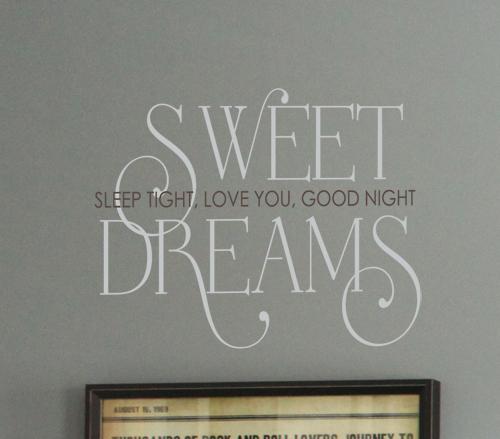 Sweet Dreams Sleep Love Goodnight Wall Decals