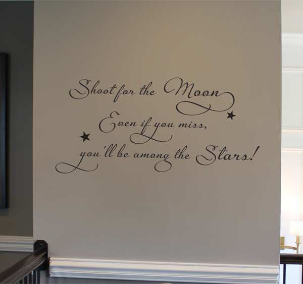 Shoot For The Moon II Wall Decal