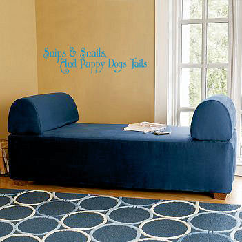 Snips & Snails Wall Decal