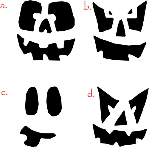 Pumpkin Faces I Halloween Decals