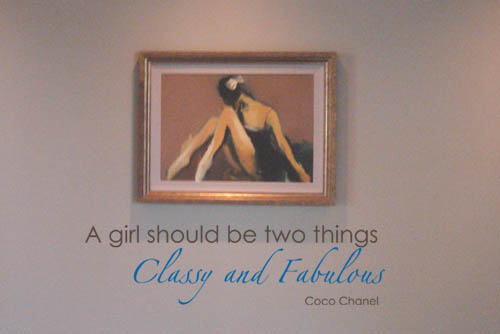 A Girl Should Be Two Things Chanel Wall Quote