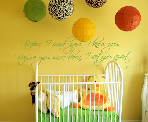 Before I Made You I Knew You Nursery Wall Decal