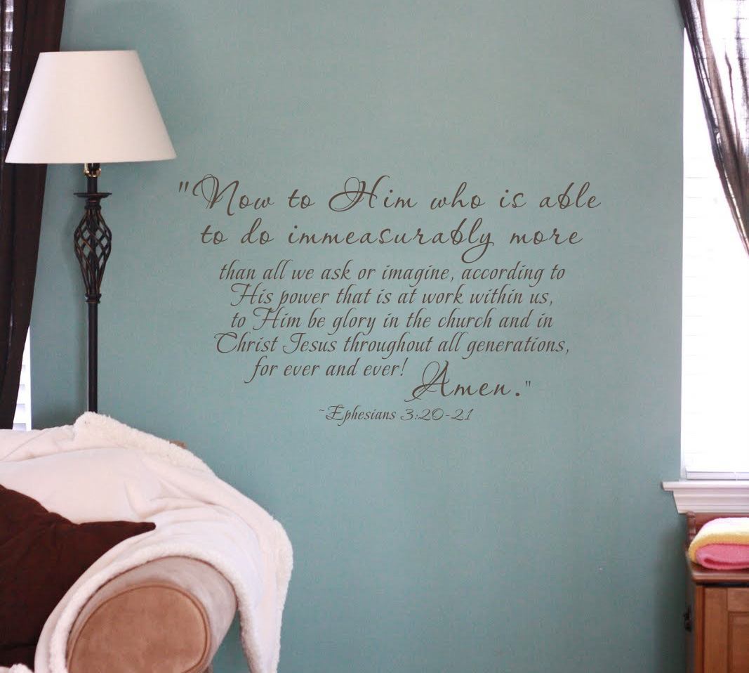 Ephesians Quote Wall Decal