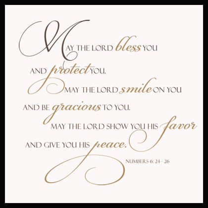 May Lord Bless And Protect You Wall Decals