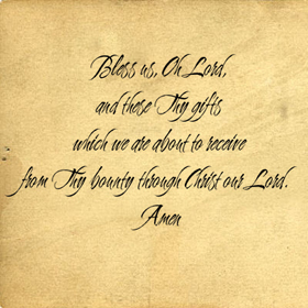 Bless Us Oh Lord-II Wall Decals