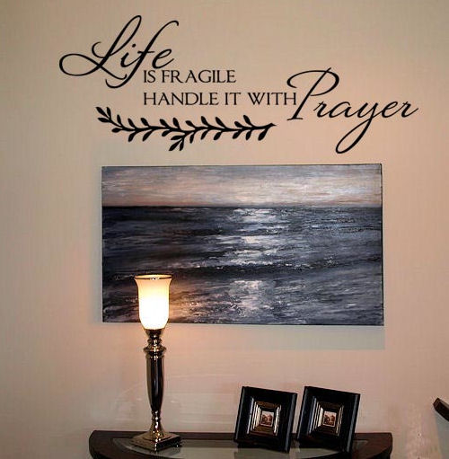 Life is Fragile Wall Decals