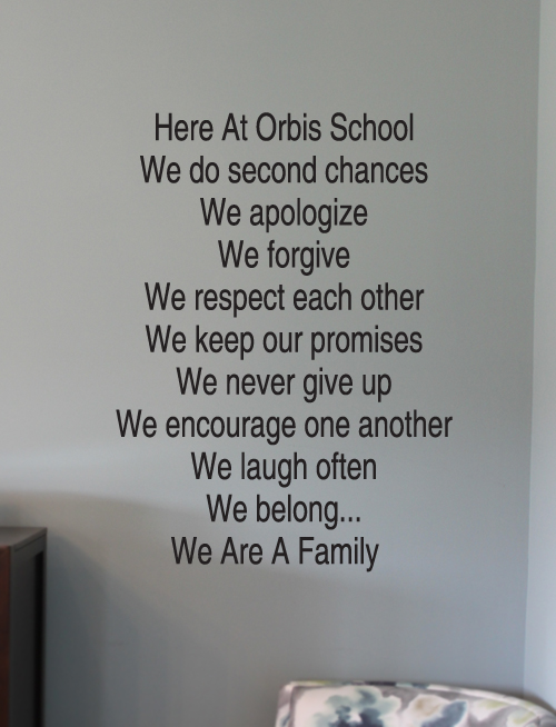 Here At School Wall Decal