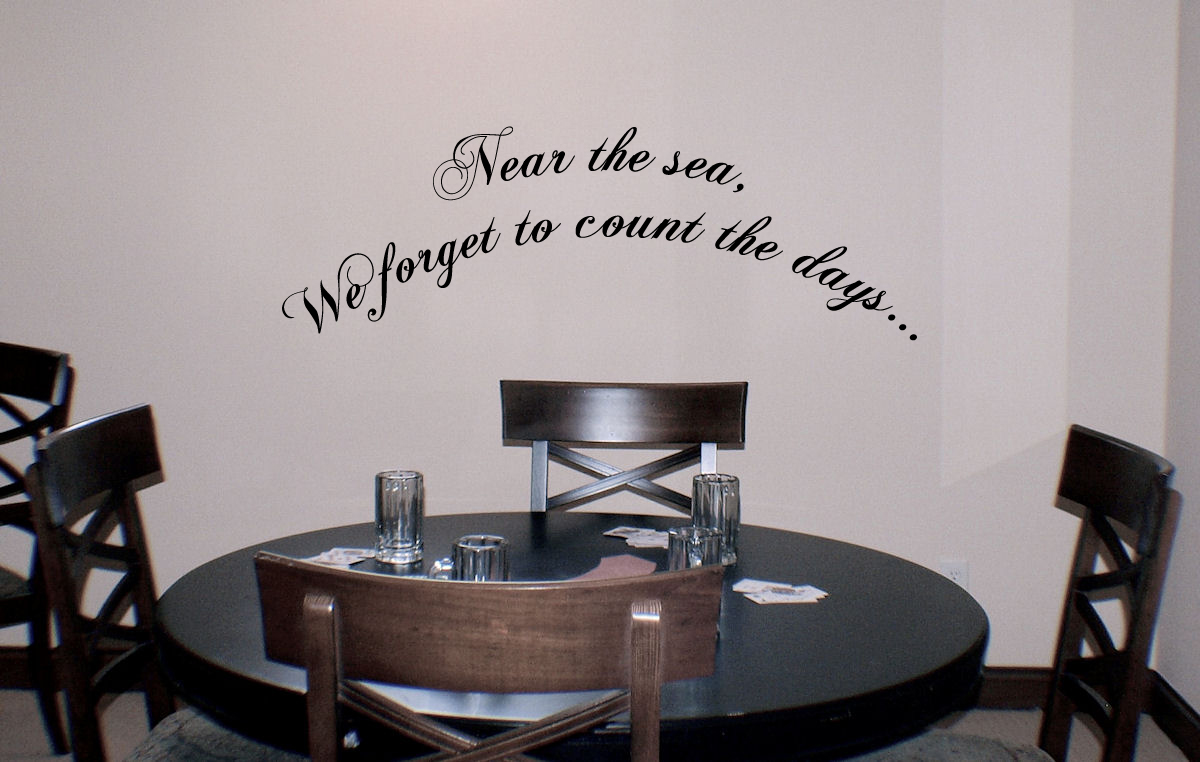 Near The Sea Forget The Days Wall Decal