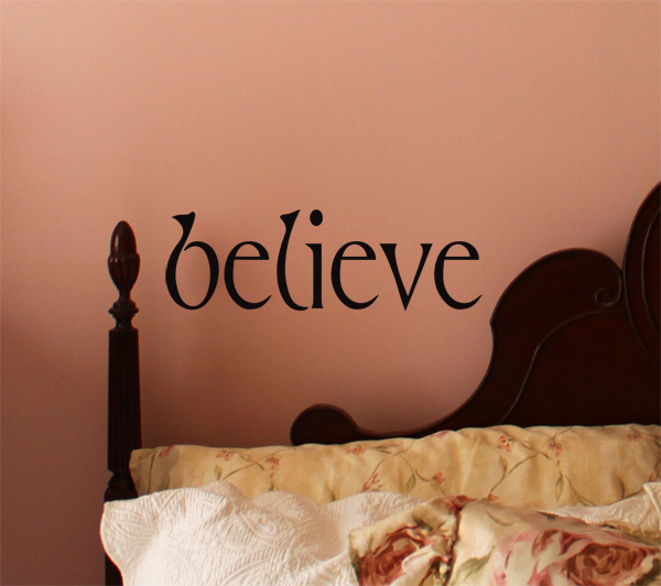 Simply Words Believe | Wall Decals