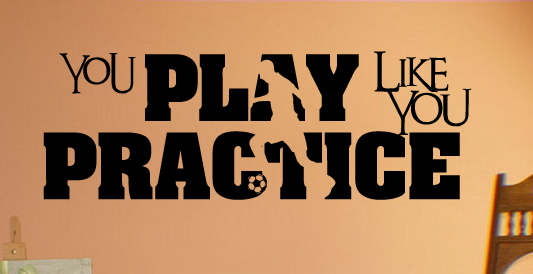 Play Practice Soccer  Wall Decals