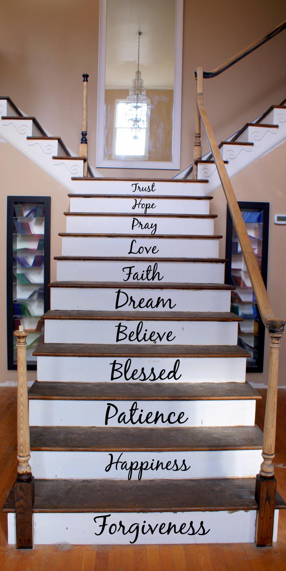 Cursive Inspirational Words Wall Decal