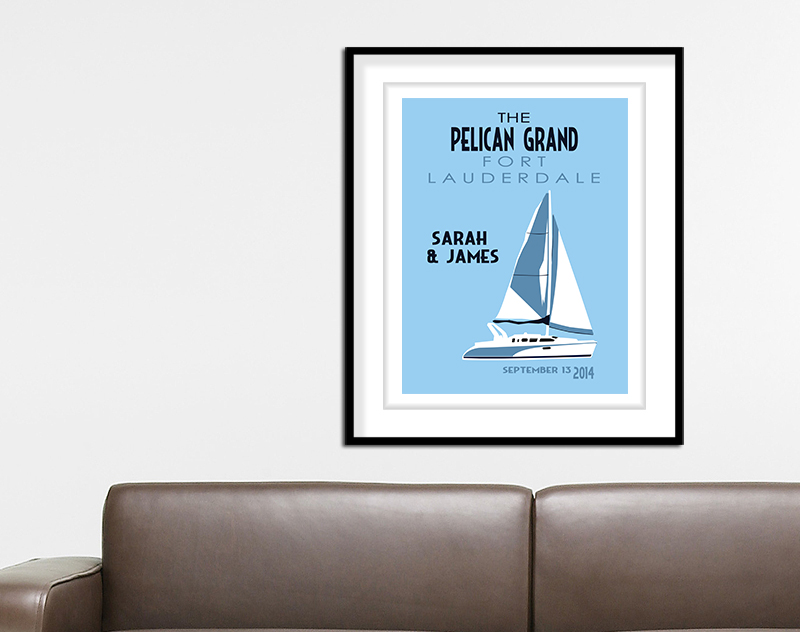 Sailboat Wedding Print