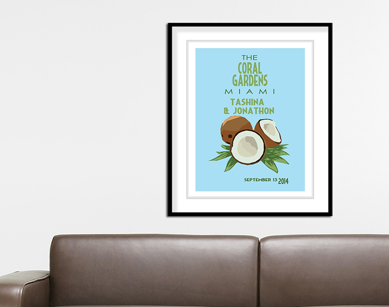 Coconut Wedding Print