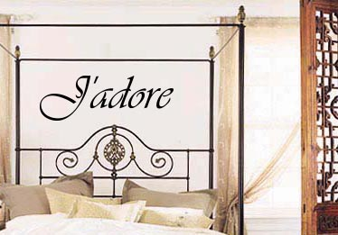 J'adore Wall Decal