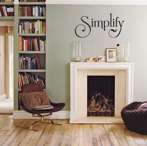 Simplify | Wall Decal