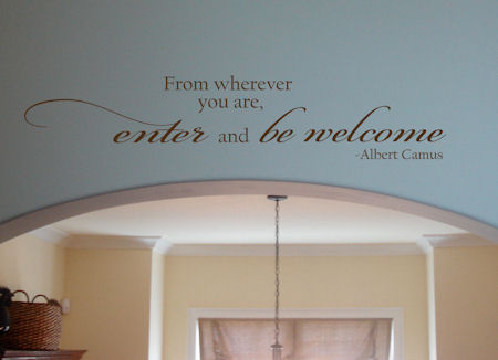Enter & Be Welcome Wall Decal