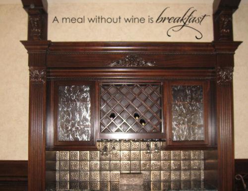 Wine Breakfast Wall Decal