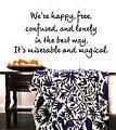 We're Happy, Free Wall Decal