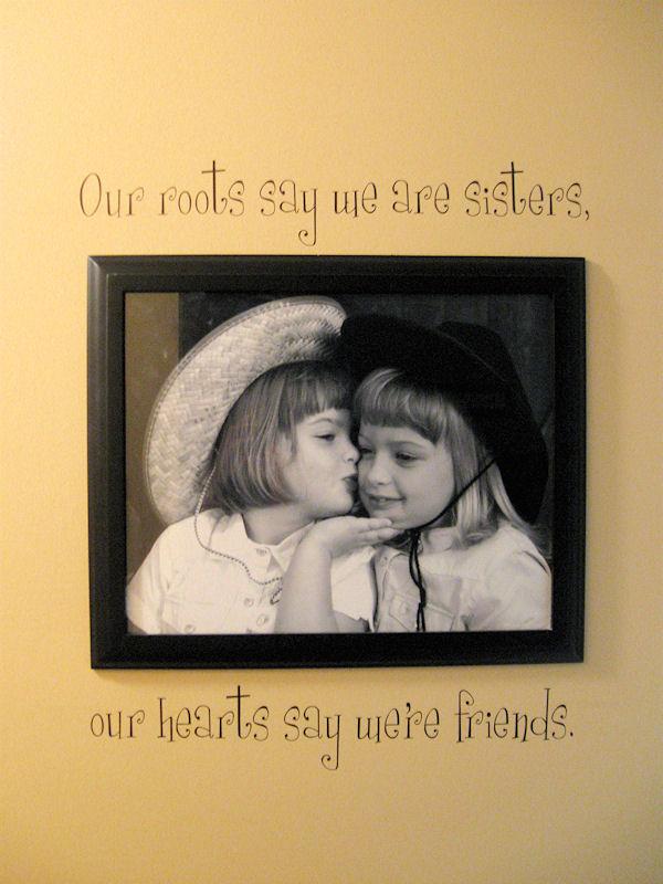 Sisters Friends Wall Decal