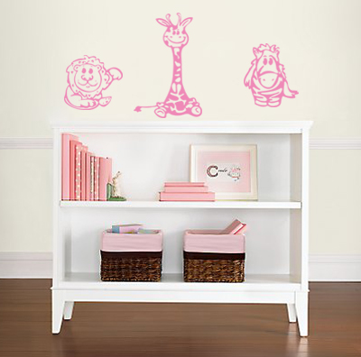 Baby Animal Giraffe Pack Wall Decal