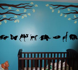 Animal Alphabet Wall Decal