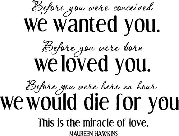 A Miracle of Love | Wall Decals