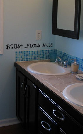 Brush Floss Smile Wall Decal