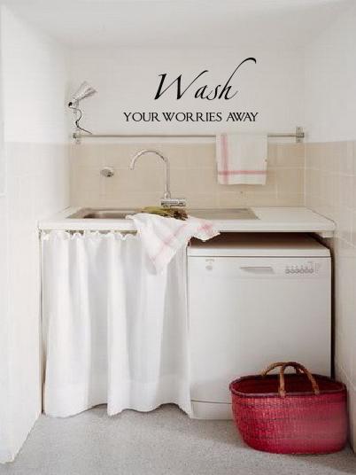 Wash Worries Away | Wall Decals