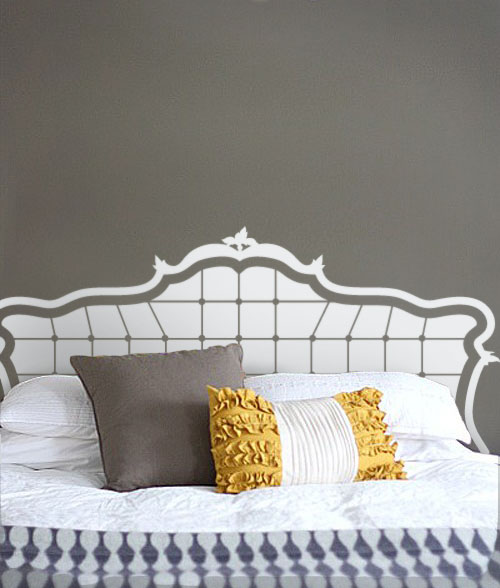 Baroque Headboard Wall Decal