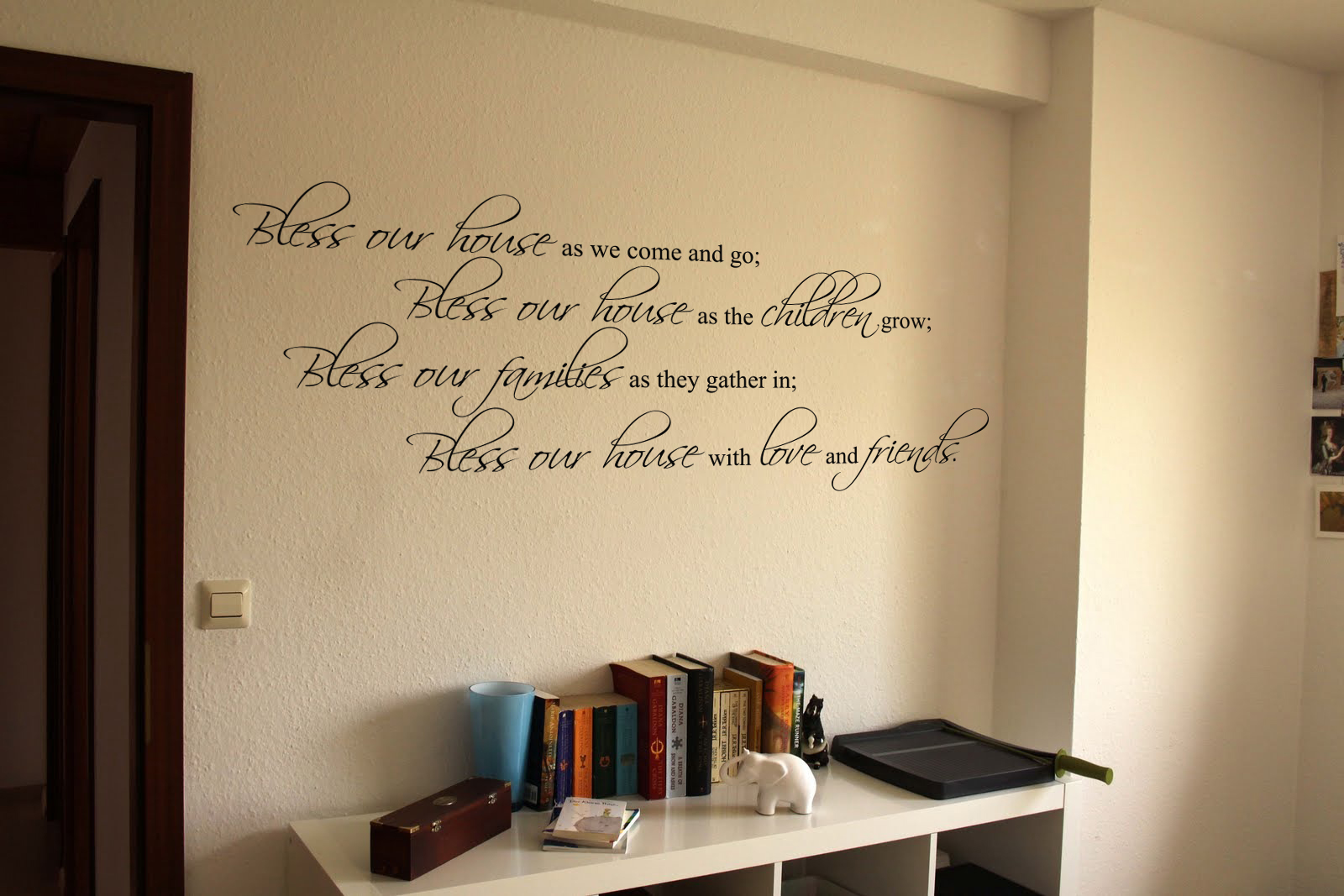 Bless Our House Bless Our Families Wall Decal