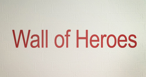 Wall Of Heroes Decal