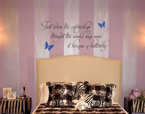 Caterpillar Butterfly Wall Decal