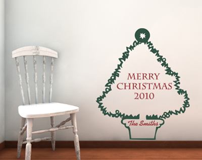 Merry Christmas Tree | Wall Decals