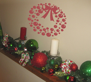 Ornament Wreath | Wall Decals