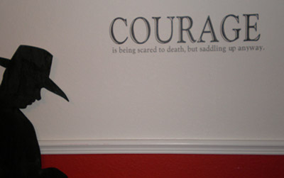 Courage is Saddling Up Wall Decals
