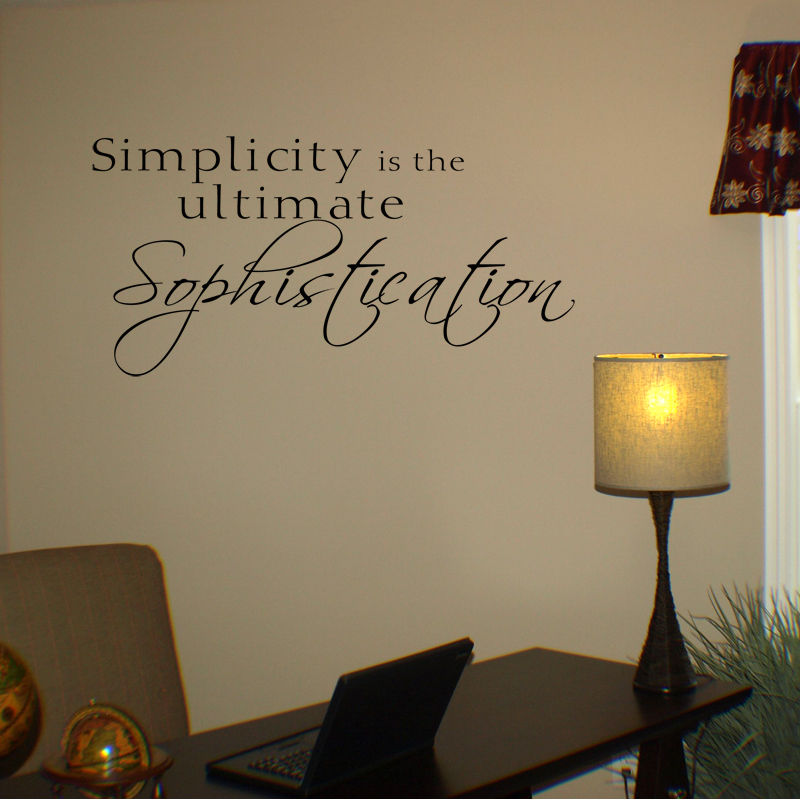 Simplicity Ultimate Sophistication Wall Decal