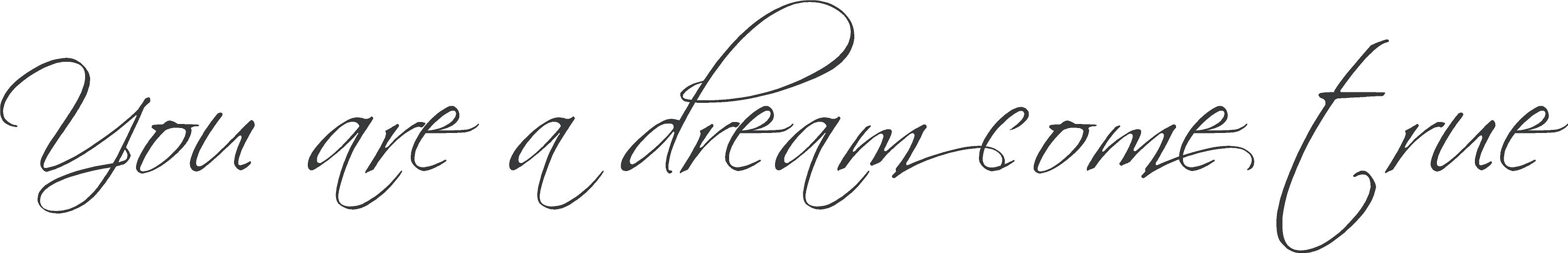 You Are A Dream | Wall Decals