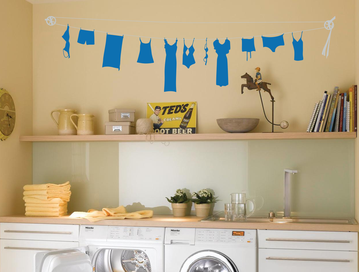 Clothes Line Wall Decal