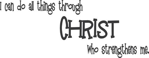 Through Christ Wall Decal