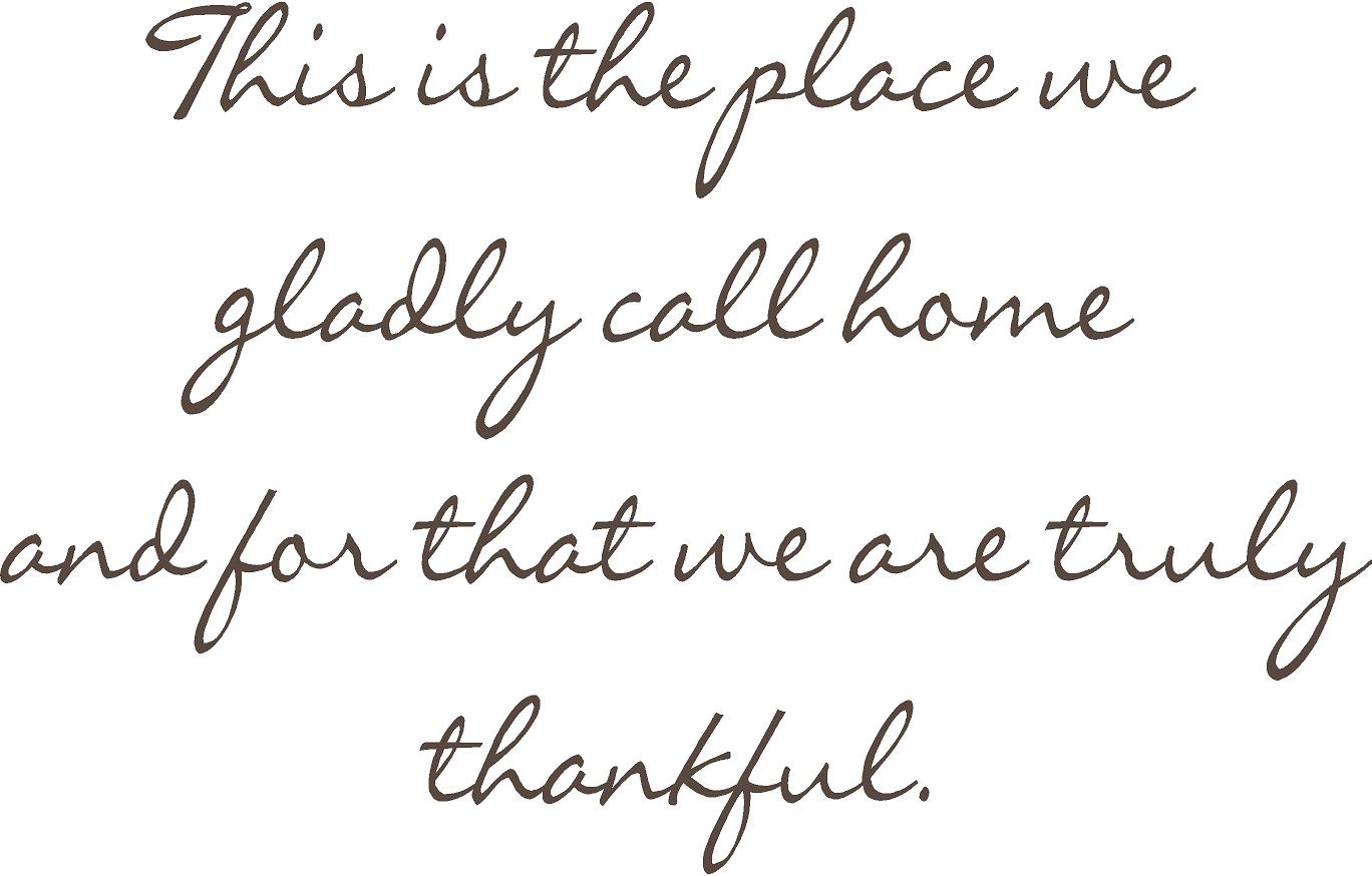 Gladly Call Home | Wall Decals