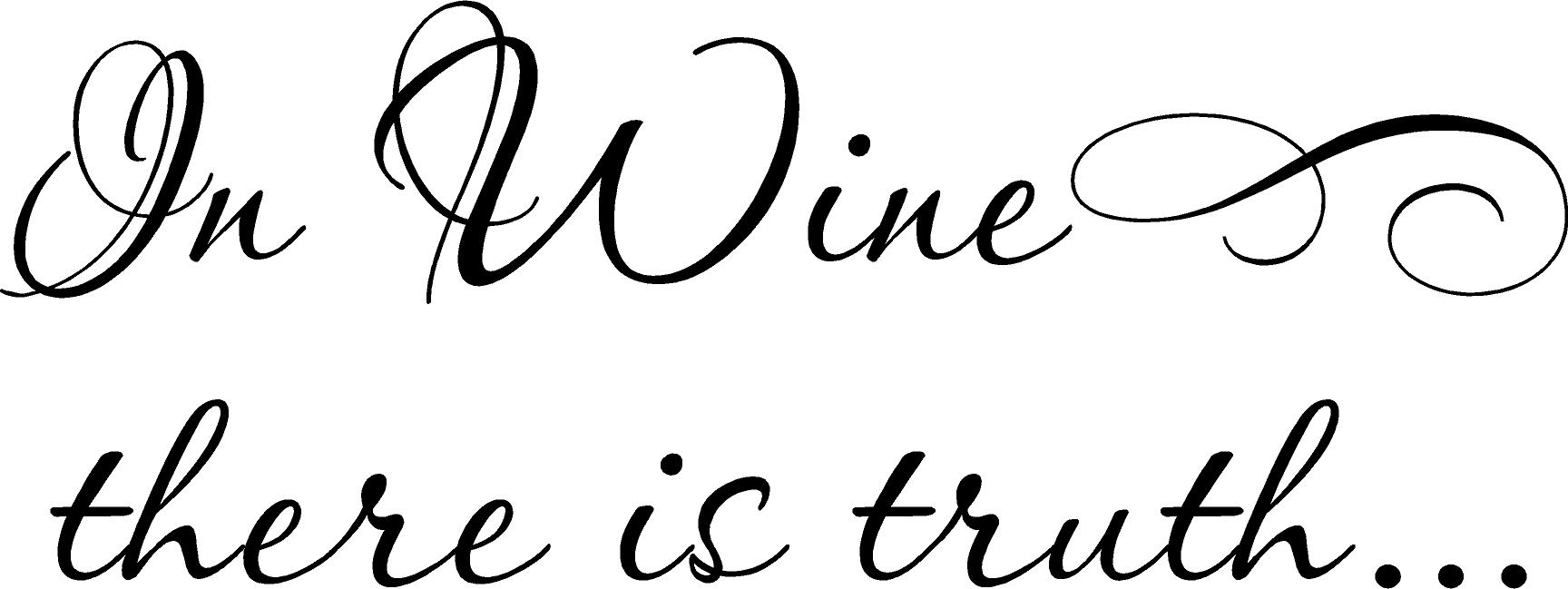 In Wine Truth | Wall Decals