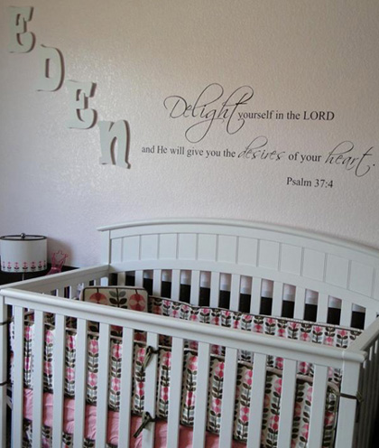Delight in the Lord Wall Decals
